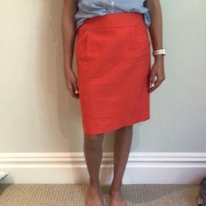 Jcrew red pencil skirt